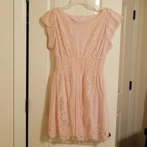 6dd155b74 Pinky Dresses | Pink Lace Dress From Modcloth | Poshmark